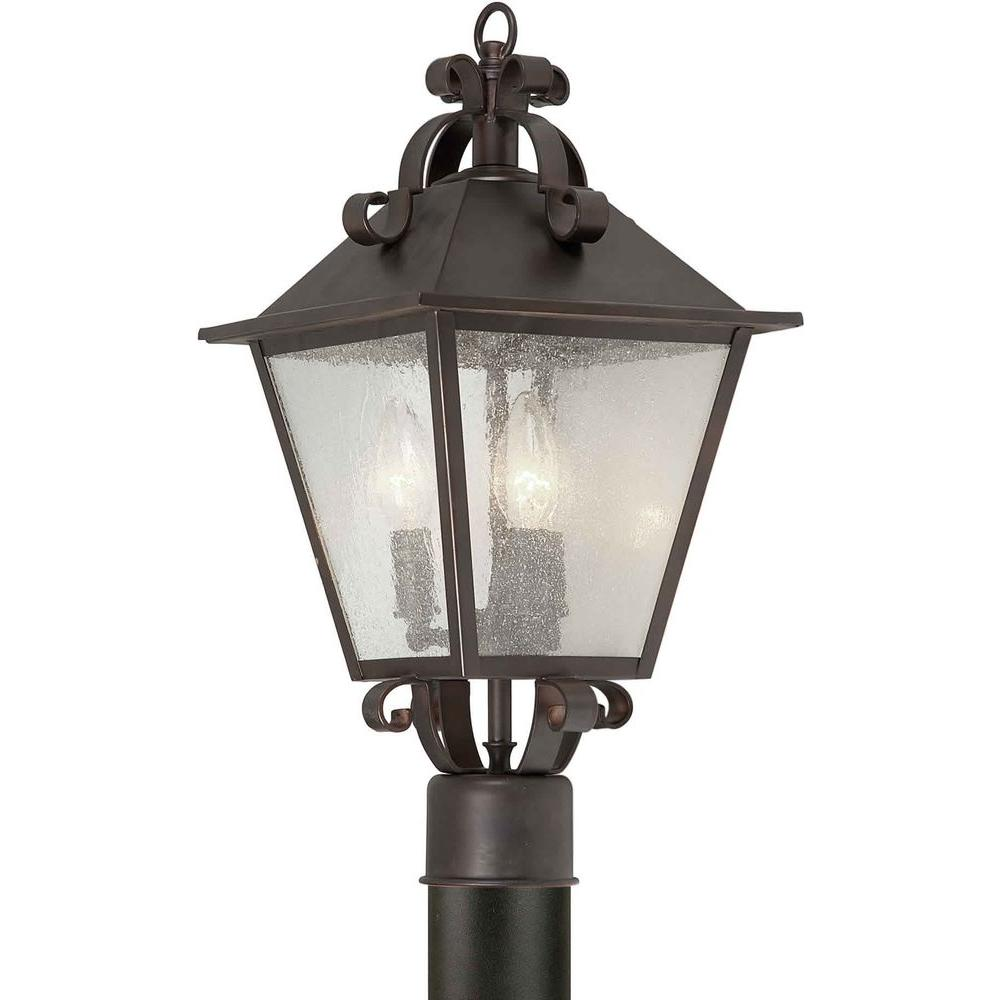 Talista Burton 3-Light Outdoor Antique Bronze Incandescent Post Light