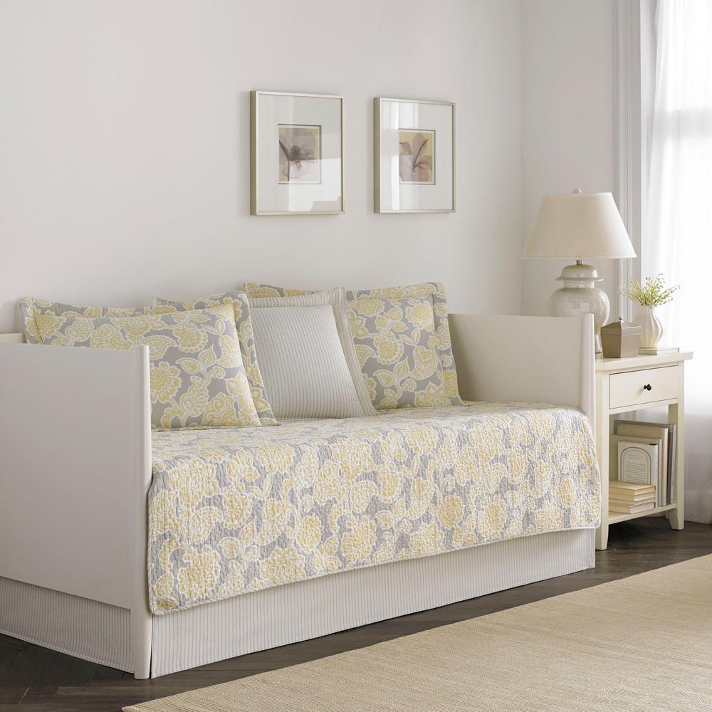 Joy 5-Piece Cream Multicolored Daybed Bedding Set