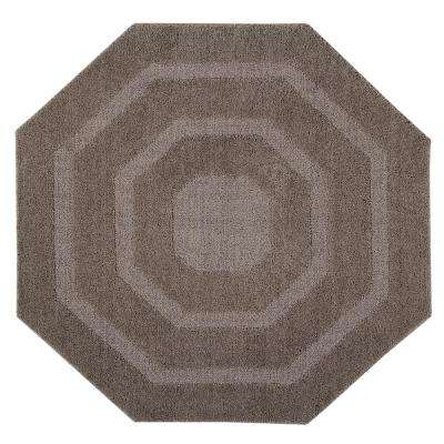 Micro Frs Beige 48 in. x 48 in. Cotton Bath Rug