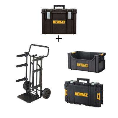 ToughSystem 27 in. DS Tool Box Carrier, DS400 XL Tool Box, DS280 Tool Tote and DS130 Tool Box Combo Set (4 Components)