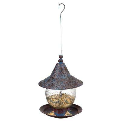 Bird Feeder - Blue Swirl
