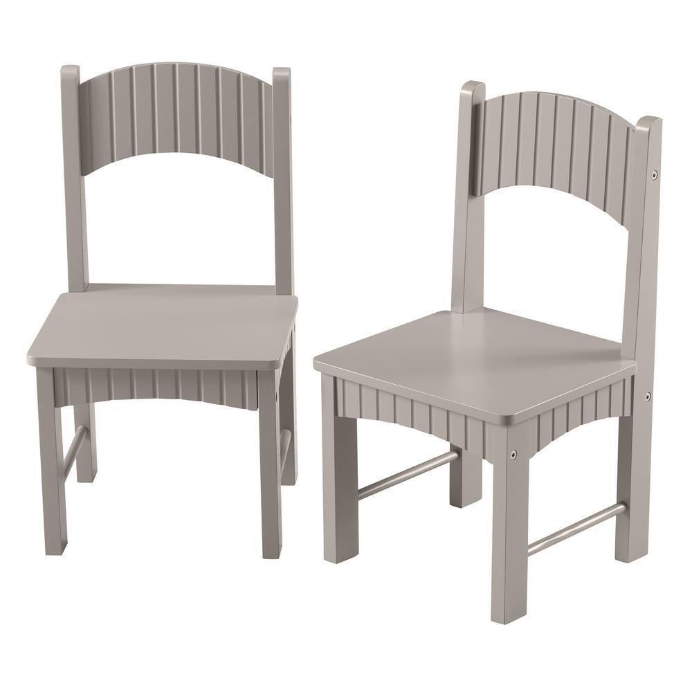 Groovy Lena Gray Wooden Kids Chairs Set Of 2 Interior Design Ideas Gentotryabchikinfo