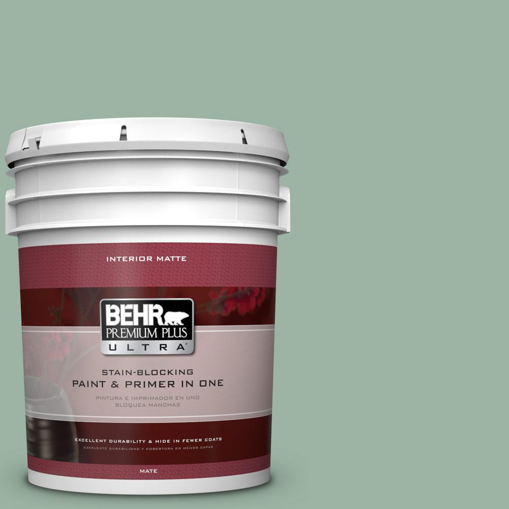 BEHR Premium Plus Ultra 5 gal. #S410-4 Copper Patina Matte Interior Paint