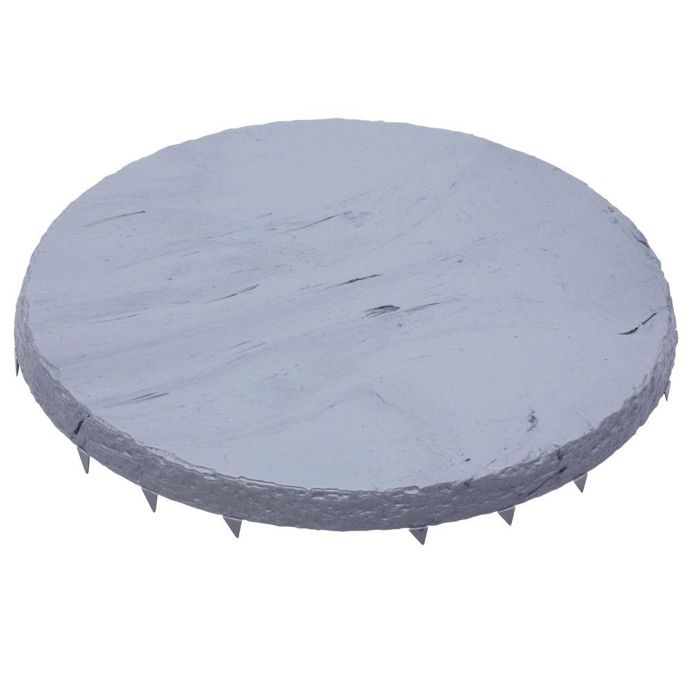 Emsco 16 in. x 16 in. Natural Slate Color Round Resin Step Stones (6-Pack)