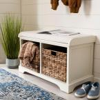 Safavieh Freddy Distressed White Storage Bench