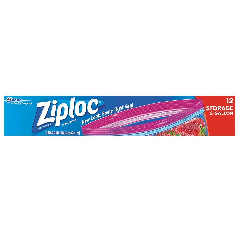 Ziploc 2 Gal Jumbo Storage Bag 043555 The Home Depot