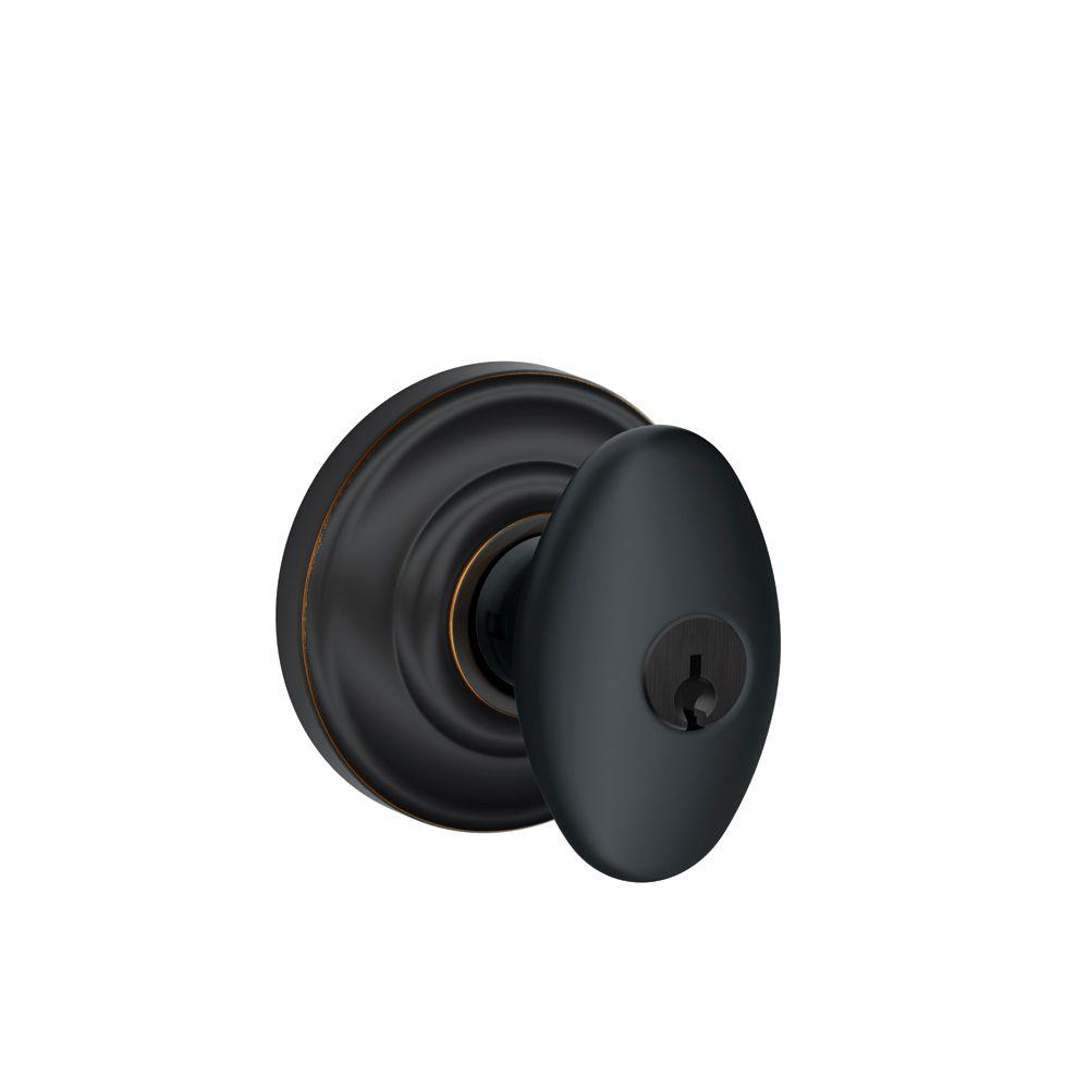 Andover Collection Aged Bronze Siena Keyed Entry Knob