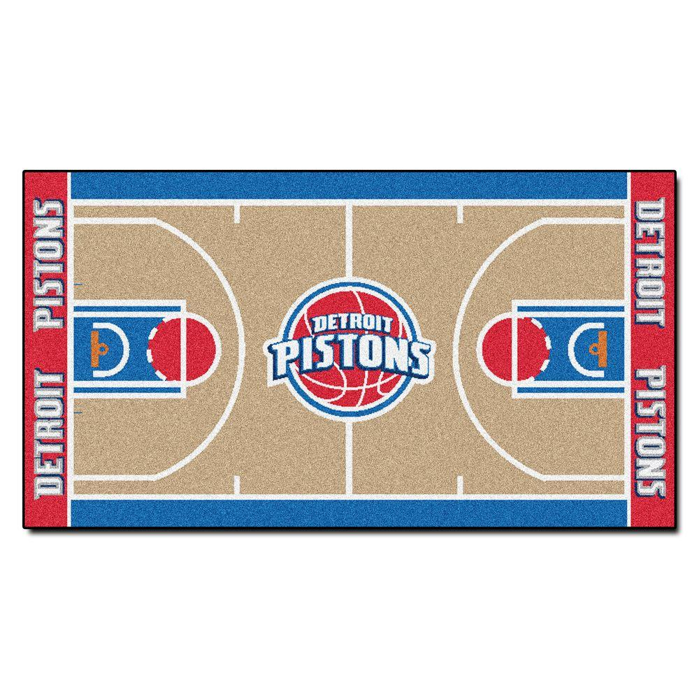 Fanmats Detroit Pistons 2 Ft X 3 Ft 8 In Nba Court Rug