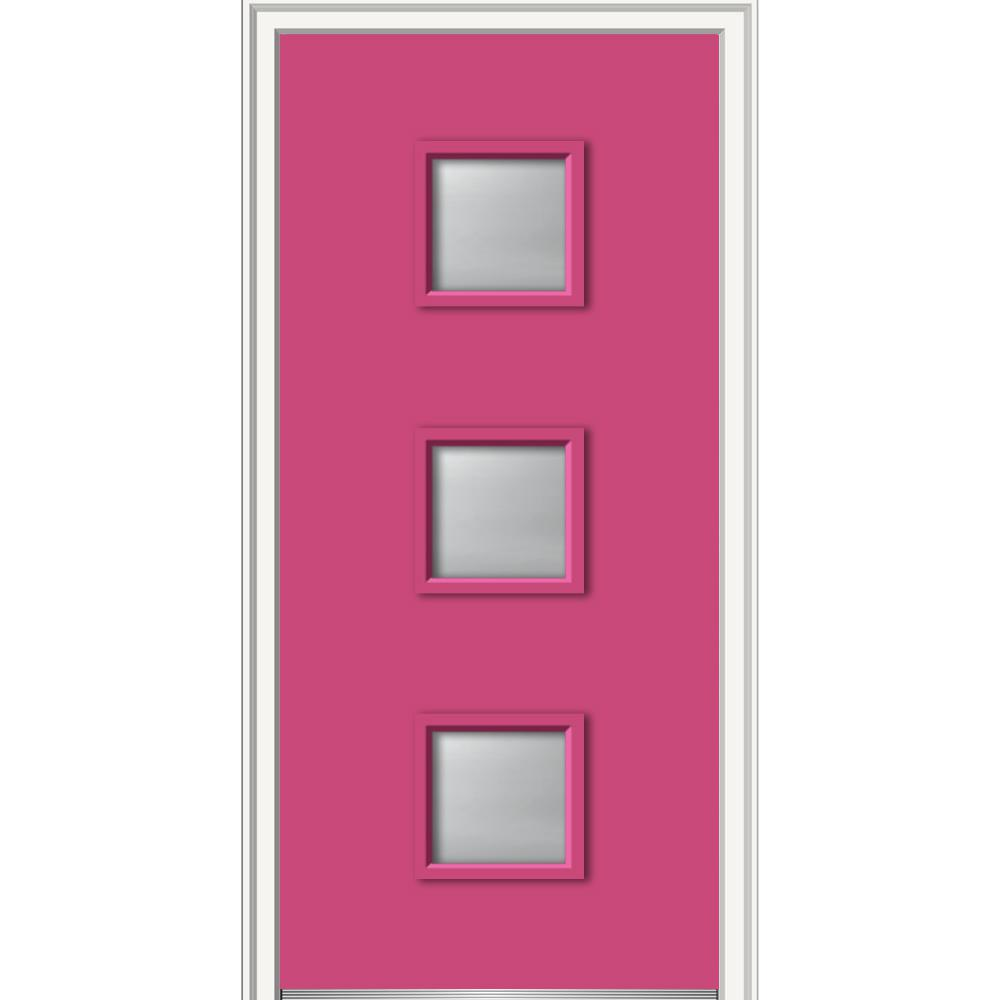 9 Lite Steel Door