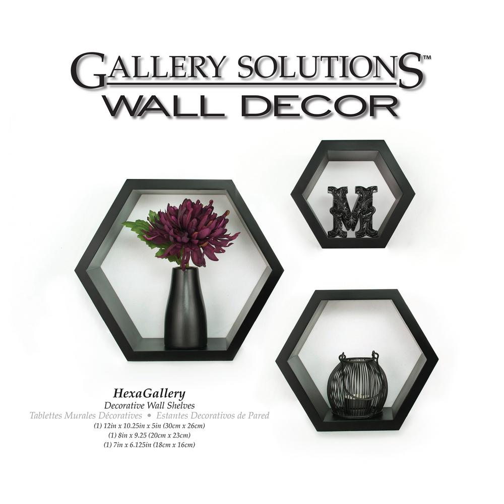 Pinnacle Gallery 938 In W X 438 In D Black Wall Cubes Decorative