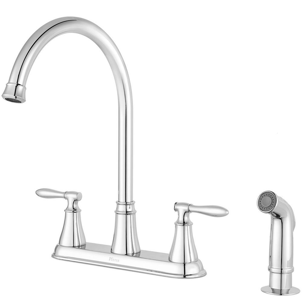 Pfister Glenora 2-Handle Kitchen Faucet With Side Sprayer