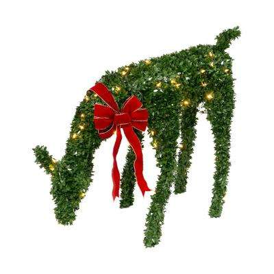 44 in. Electric Green PVC Doe with Red Burlap Bow