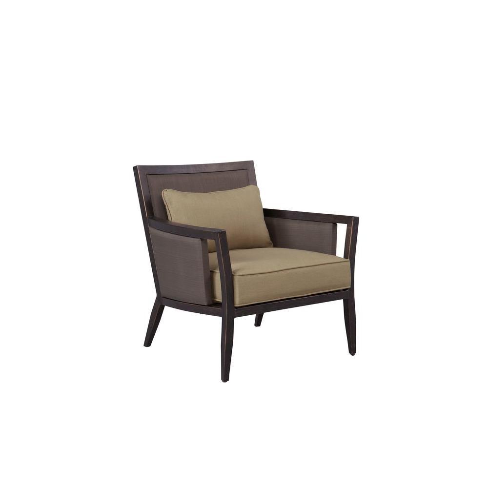Brown Jordan Greystone Patio Lounge Chair with Meadow Cushions -- CUSTOM