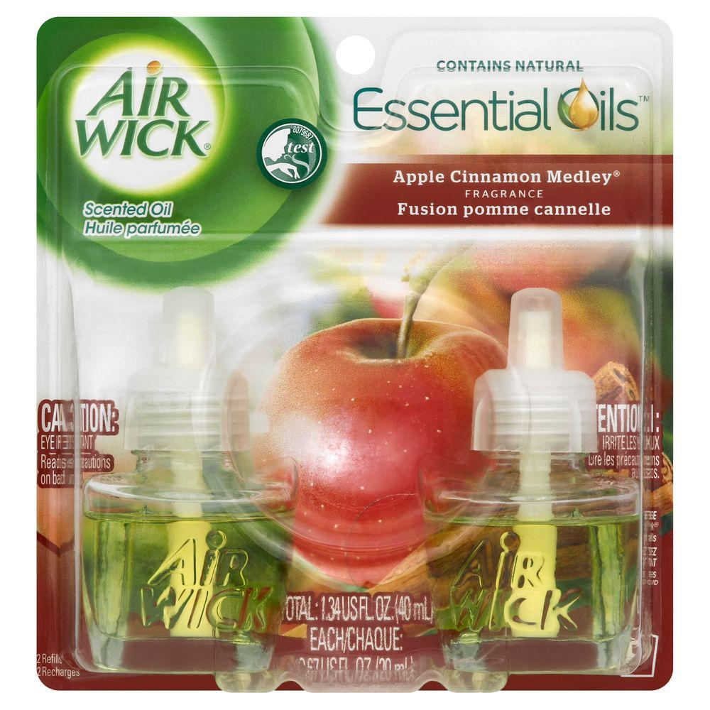 0.67 oz. Apple Cinnamon Medley Scented Oil Refill (2-Pack)