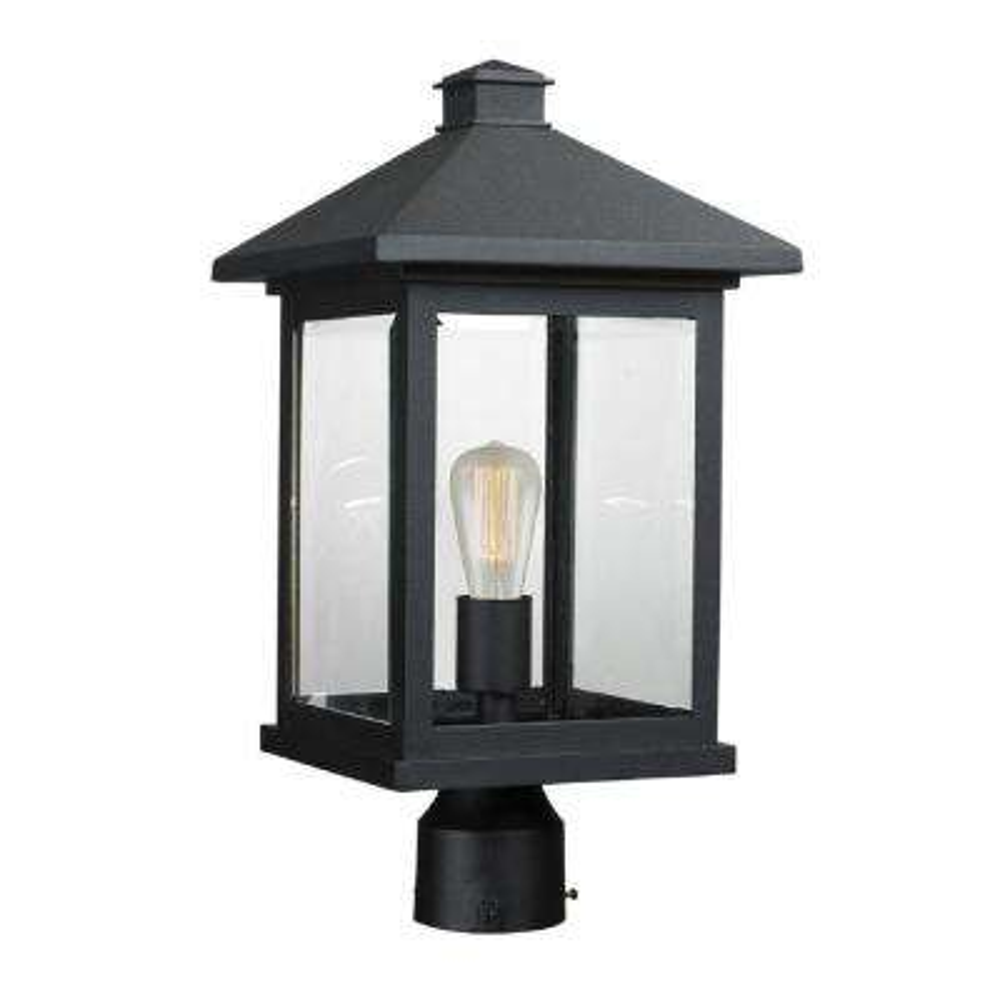 Malone 1-Light Black Outdoor Post Mount