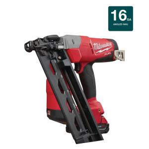 Milwaukee M18 FUEL 18-Volt Lithium-Ion Brushless Cordless 16-Gauge Angled Finish Nailer Kit W/ (1) 2.0Ah... by Milwaukee