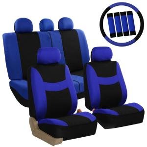 FH Group Light and Breezy Fabric 21 inch x 21 inch x 2 inch Full Set Seat Covers... by FH Group