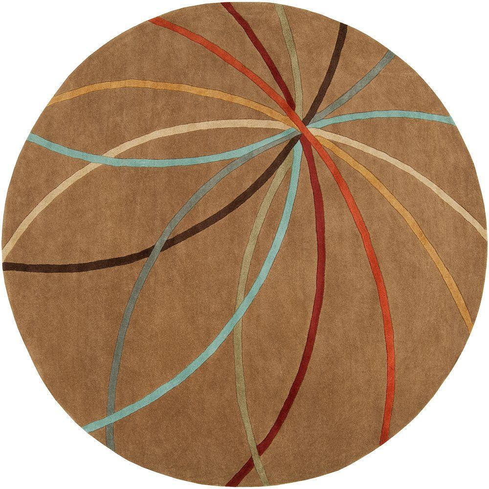 Artistic Weavers Hughson Mocha 8 ft. Round Area Rug