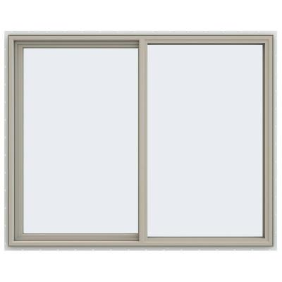 59.5 in. x 47.5 in. V-4500 Series Desert Sand Vinyl Left-Handed Sliding Window with Fiberglass Mesh Screen