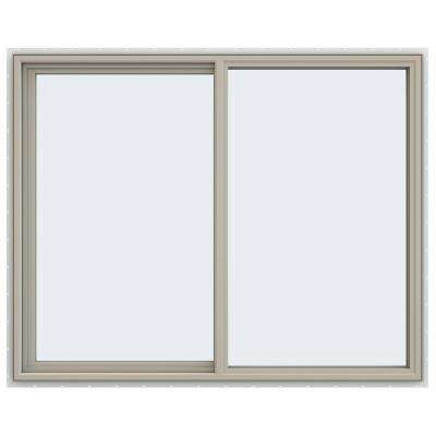 59.5 in. x 47.5 in. V-4500 Series Left-Hand Sliding Vinyl Window - Tan