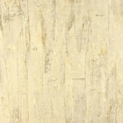 57.8 sq. ft. Lindens Light Yellow Wood Wallpaper