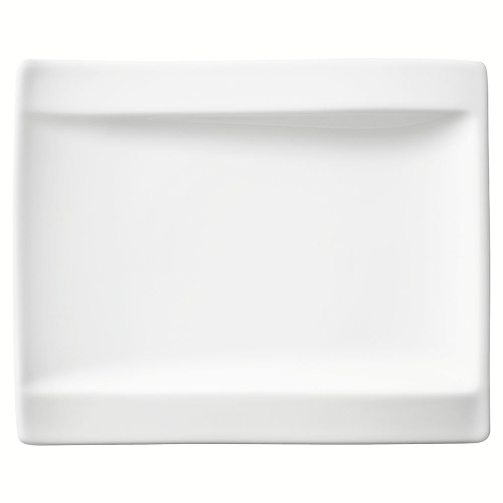 New Wave White Porcelain Appetizer Plate