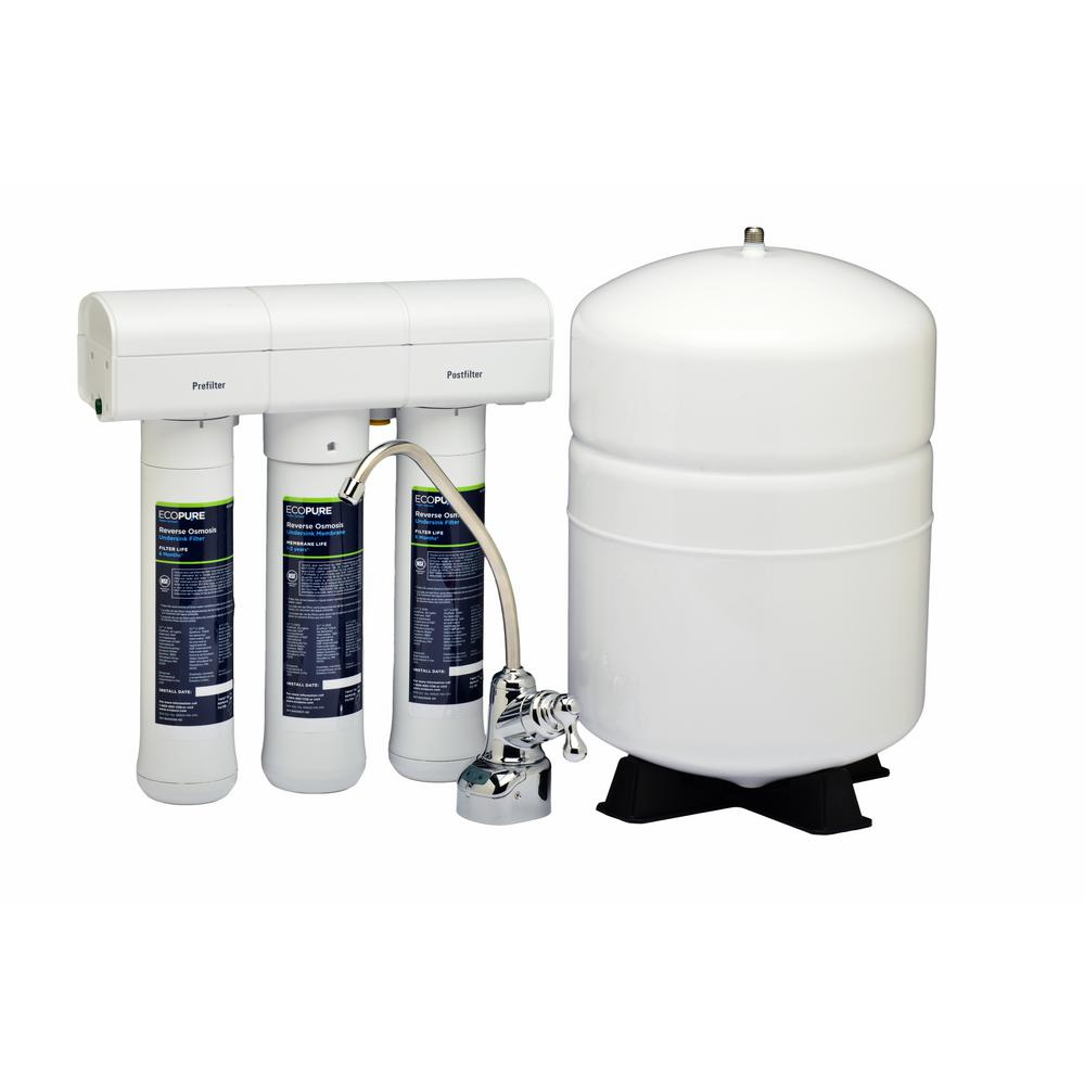 EcoPure Reverse Osmosis Drinking Water Filter System