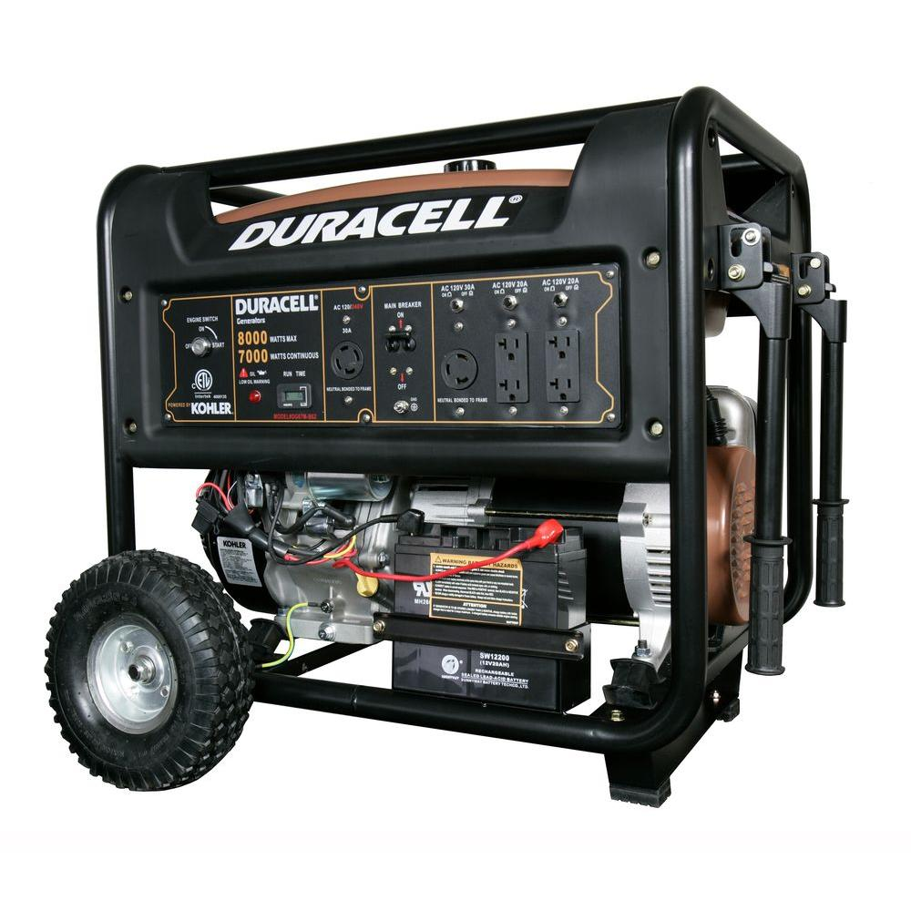8,000-Watt Gasoline Powered Electric Start Portable Generator with 1 Kohler