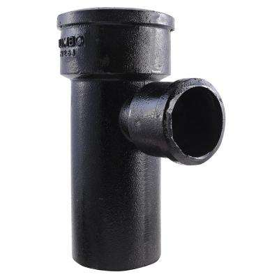 4 in. x 2 in. Cast Iron Sanitary Tee