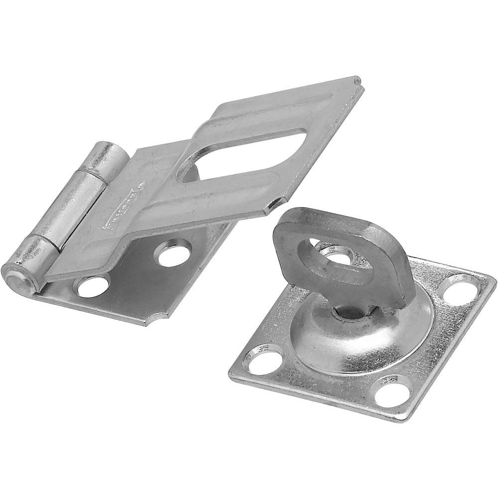3-1/4 in. Zinc Plated Swivel Staple Safety Hasp