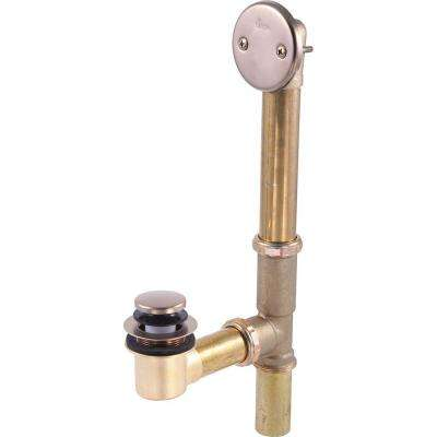 Classic Toe-Operated Bathwaste Assembly in champagne Bronze