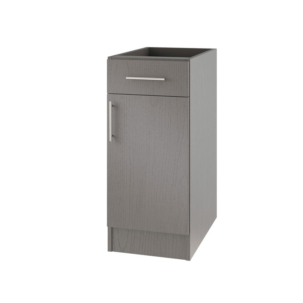 Assembled 18x34.5x24 in. Miami Open Back Outdoor Kitchen Base Cabinet with