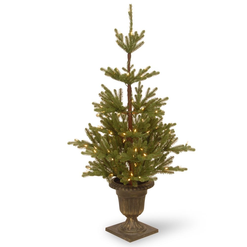 4.5 ft. Imperial Spruce Entrance Artificial Christmas Tree with Clear Lights