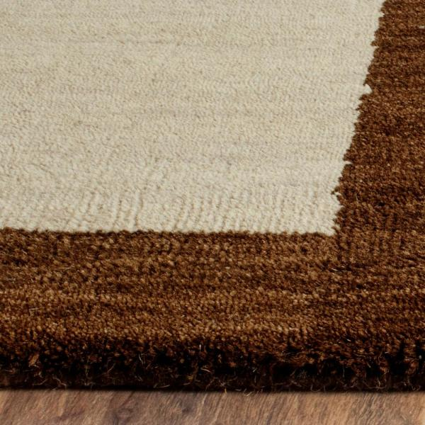 Safavieh Himalaya Beige Dark Brown 2 Ft X 6 Ft Runner Rug Him585a 26 The Home Depot