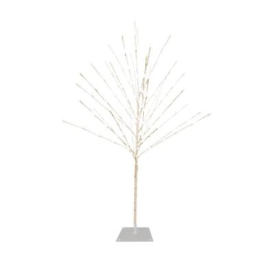 White Birch Christmas Tree with Cool White LED Lights, 59 in. Tall