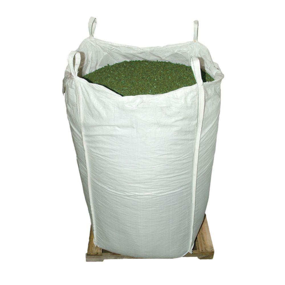 76.9 cu. ft. Green Rubber Mulch