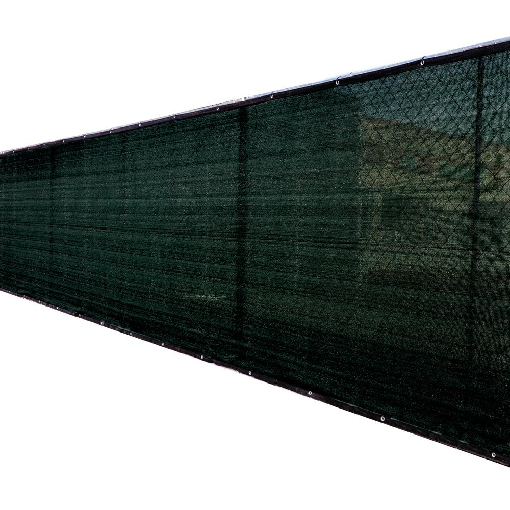 FENCE4EVER 46 in. x 50 ft. Black Privacy Fence Screen Plastic Netting Mesh Fabric Cover with Reinforced Grommets for Garden Fence