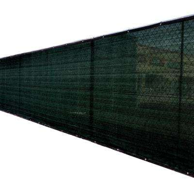 46 in. x 50 ft. Black Privacy Fence Screen Plastic Netting Mesh Fabric Cover with Reinforced Grommets for Garden Fence