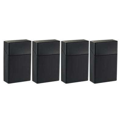 Silicon Cigarette Pack Holder, Black (4-Pack)
