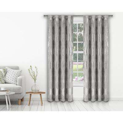 Nash 37 in. W x 84 in. L Polyester Window Panel in Silver