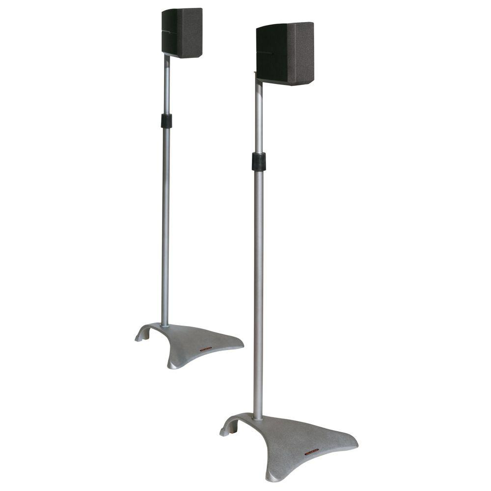 Atlantic Satellite Speaker Stand Pair Titanium Adjustable