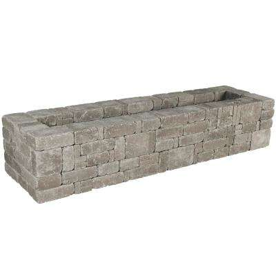 RumbleStone 89 in. x 17.5 in. x 24.5 in. Rectangle Concrete Planter Kit in Greystone