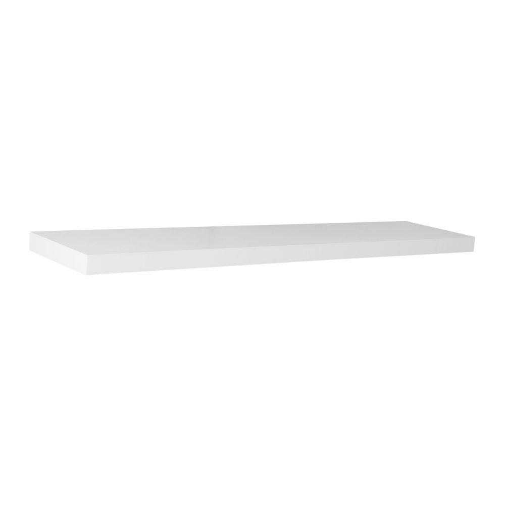 Home Decorators Collection 36 in. L x 7.75 in. W Slim Floating White Shelf