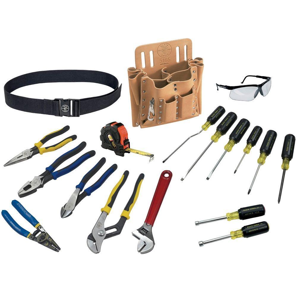 klein tools journeyman tool set 18 piece 80118 the home depot. Black Bedroom Furniture Sets. Home Design Ideas