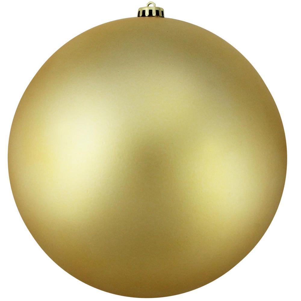 Matte Vegas Gold Commercial Shatterproof Christmas Ball Ornament