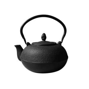 3 L Hakone Matte Black Cast Iron Teapotwood Stove Humidifier