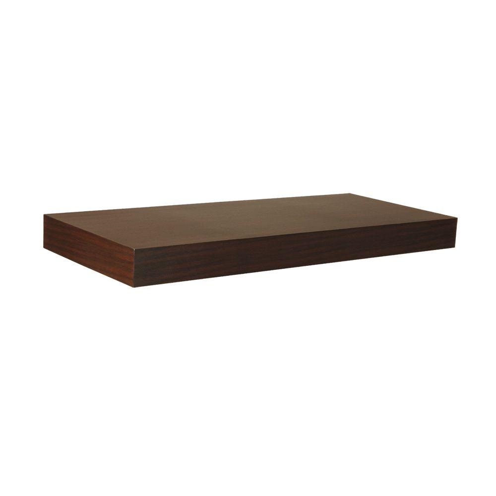 Home Decorators Collection 23.6 in. L x 10 in. W Floating Espresso ...