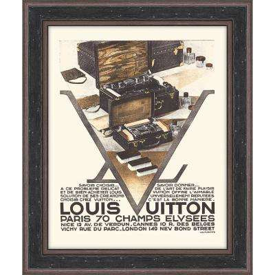 """15.5 in. x 18.5 in. """"Louis Vuitton I"""" Framed Giclee Print Wall Art"""