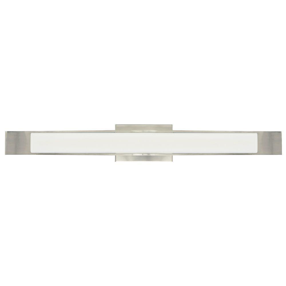 LBL Lighting Dover 1-Light White Satin Nickel Vanity Light