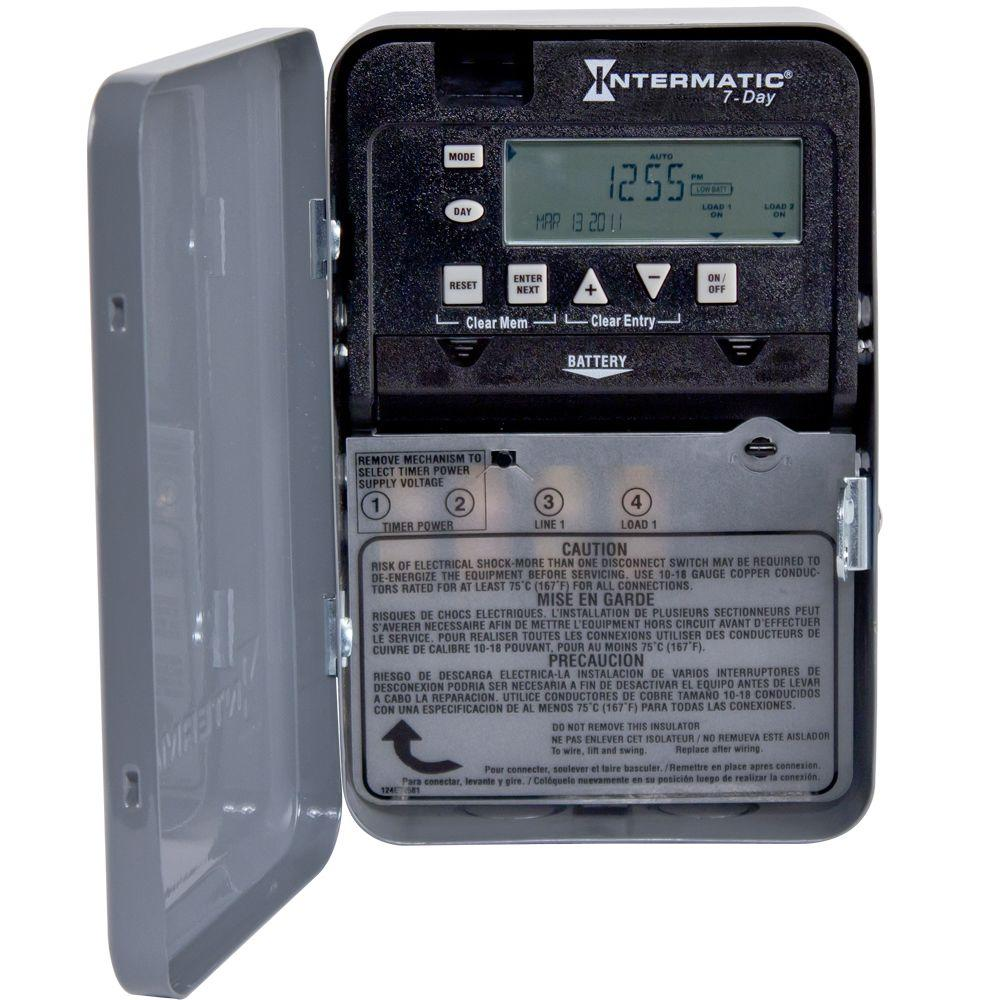 30 Amp 7-Day SPST 1-Circuit Electronic Time Switch